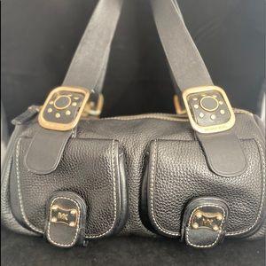 Michael Kors VTG Black Pebble Leather Bag